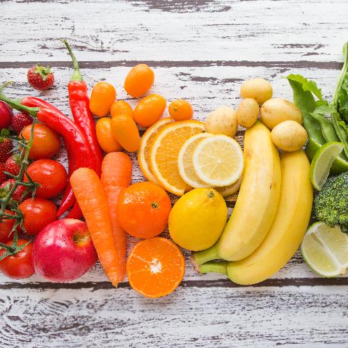 Kleurige groenten en fruit bevatten anti-oxidanten