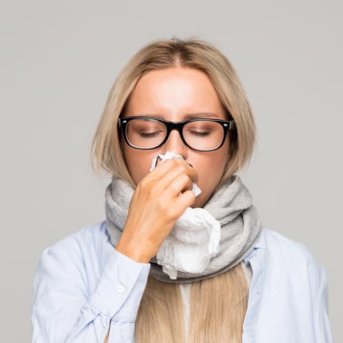 Verkoudheid als een van de oorzaken