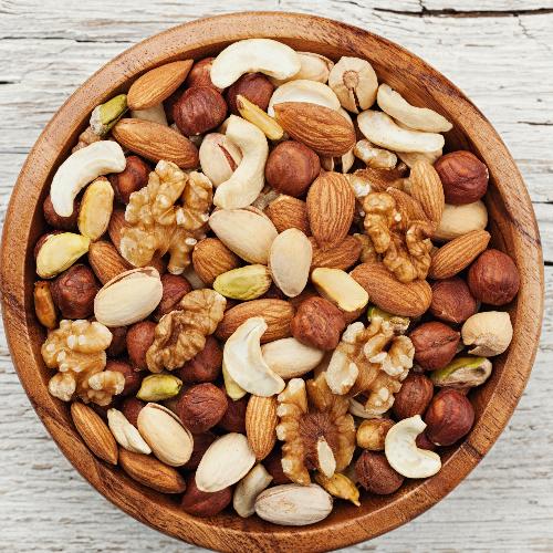 Verschillende noten zijn rijk aan gezonde vetten