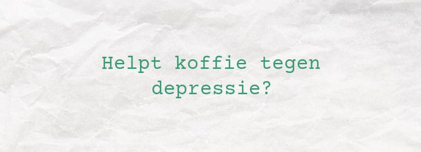 Helpt koffie tegen depressie?