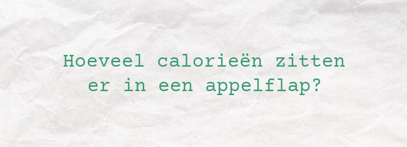 Hoeveel calorieën zitten er in een appelflap?