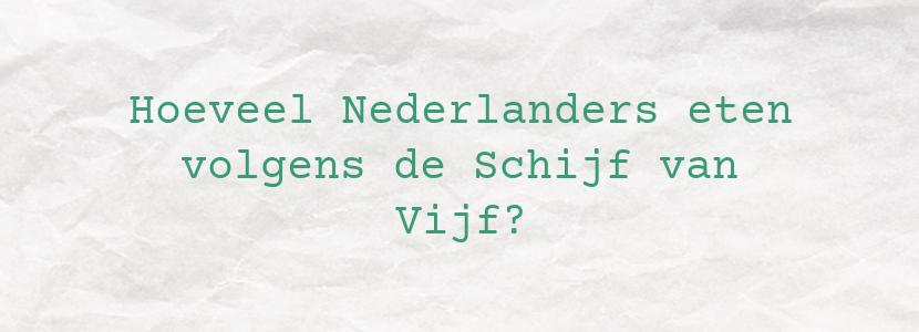 Hoeveel Nederlanders eten volgens de Schijf van Vijf?