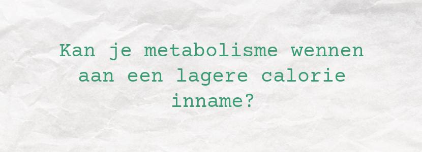 Kan je metabolisme wennen aan een lagere calorie inname?