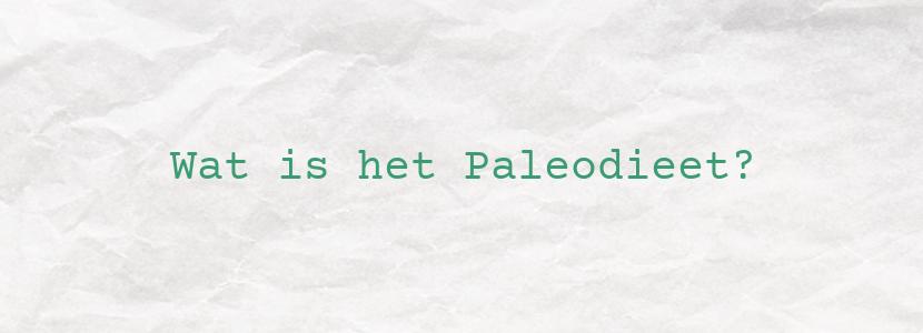 Wat is het Paleodieet?