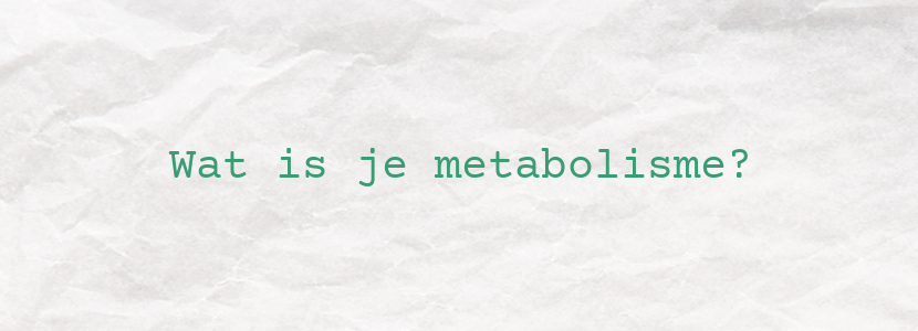 Wat is je metabolisme?