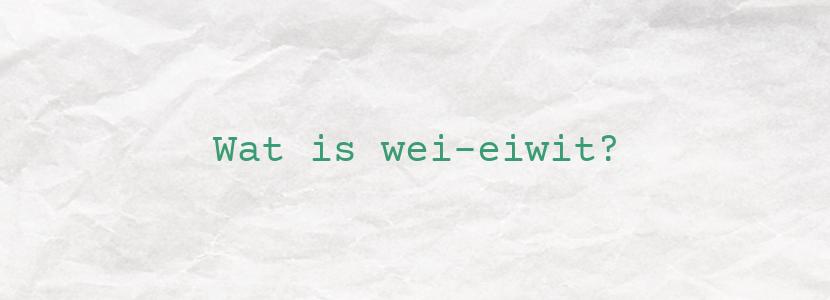 Wat is wei-eiwit?