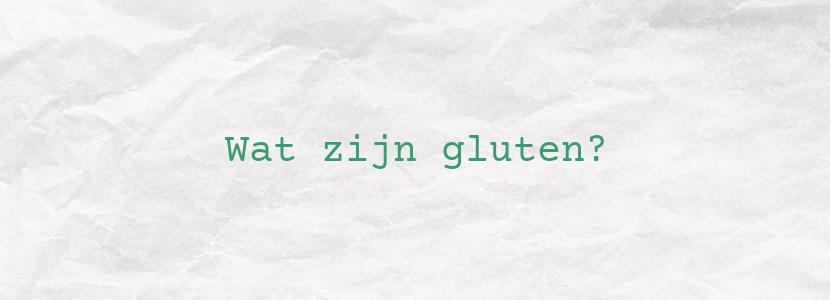 Wat zijn gluten?