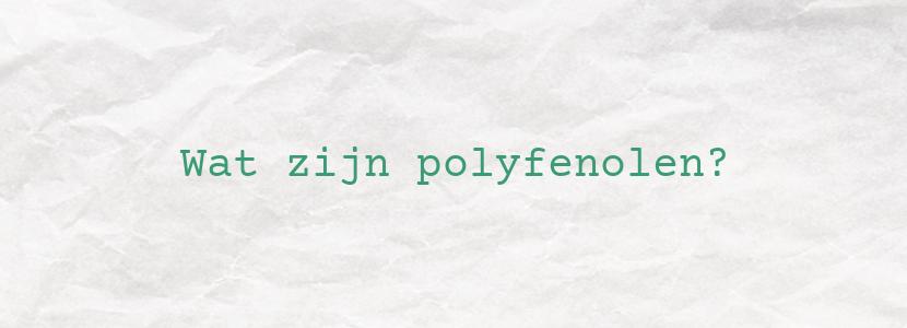 Wat zijn polyfenolen?